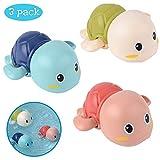 WENTS Badewannenspielzeug Badespielzeug Baby ab 2 Jahr Badewannen Spielzeug Schildkröte Schwimmen Pool Wasserspielzeug Kinder