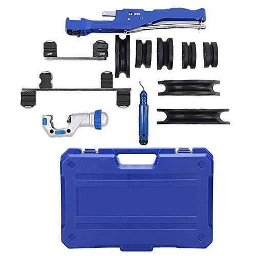 Fafeicy CT-999 Dobladora de Tubos, Kit de herramientas de molde de cobre manual para tubos, industriales de 6 a 22 mm para dobladoras de tubos