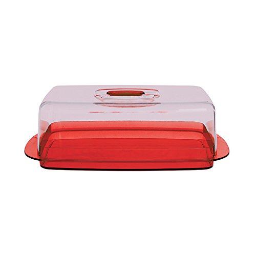 Excelsa Copriformaggio in Plastica, Rosso, 30 x 17 x 10 cm