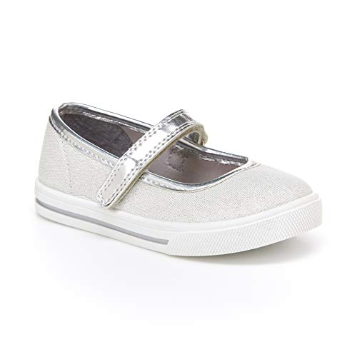 Simple Joys by Carter's Baby Girls' Mia Casual Mary Jane Flat, Grey, 7 M US Toddler