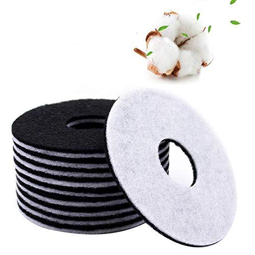 10 filtros para pulverizador de agua para fuente de filtro de carbón activo para algodón filtro para pulverizador de agua eléctrico para animales domésticos redondo de algodón universal