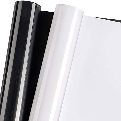 HTV Heat Transfer Vinyl Iron on Vinyl 2 Rolls of 12in x 10ft Black and White...