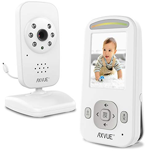 Video Baby Monitor with Night Vision Camera and Slim-Designed Screen by Axvue, Model E600 Monitors