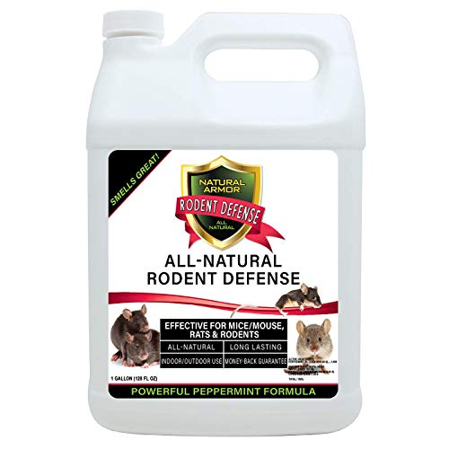 Natural Armor Peppermint Repellent for Mice/Mouse, Rats & Rodents. Natural Spray for Indoor & Outdoor Use Rodent Defense - 128 Fl Oz Gallon Refill