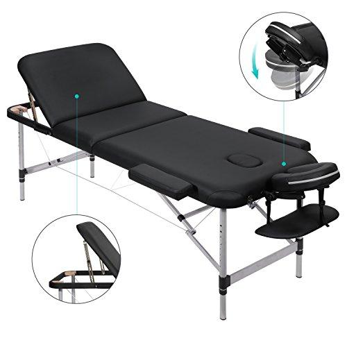 MARNUR Table de Massage Pliante 3 Sections Avec Cadre...