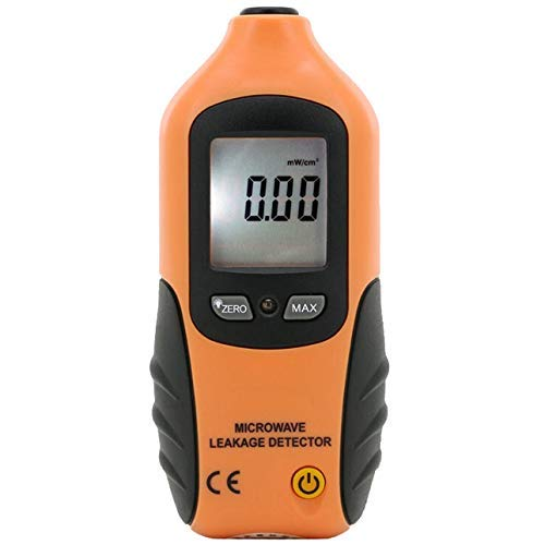 MOZHANG Détecteur de Fuite à Micro-Ondes, détecteur d ondes électromagnétiques de rayonnement électromagnétique (Color : Orange)