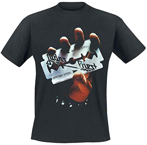 Judas Priest British Steel Album Tracklist Männer T-Shirt schwarz XL 100% Baumwolle Band-Merch, Bands