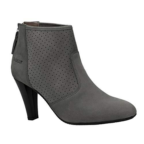 Zweigut® -Hamburg- komood #310 Damen Sommer Stiefelette Schuh extrem Komfort Nubukleder auf Flexibler Sohle atmungsaktiv, Schuhgröße:39, Farbe:grau