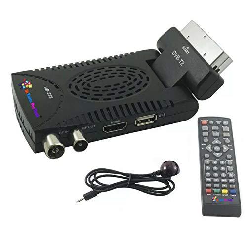 De todo para Tutti® nuevo decodificador digital terrestre HD Mini Dvb T2 USB Hdmi toma Scart 180° Televisión 2020