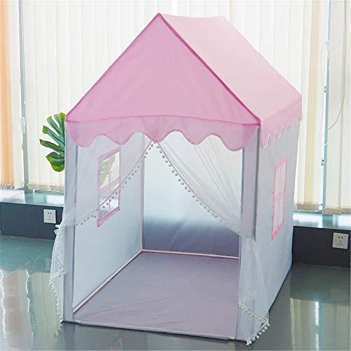 Dfghbn Carpa para Niños 1,45 M Tienda de niños portátiles Plegable Niños Tiendas Grandes Chicas Grandes Pink Princess Castle Decoración de la habitación del niño (Color : Pink, Size : 90×124×145 cm)