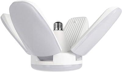 Amuzocity E27 Super Bright Garage Lights Plafonnier Lampe de Lumière Du Jour pour Le sous-sol de La Maison - 4 ou 5 feuilles 60W