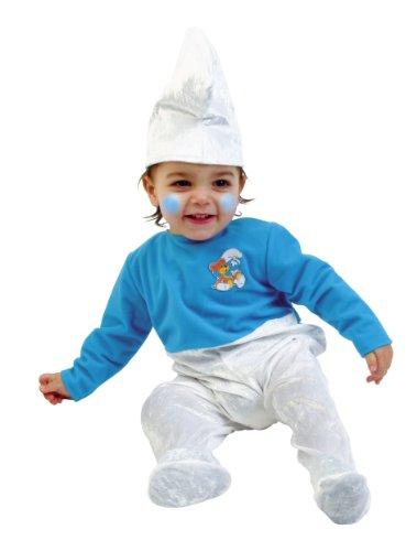joker C125-001 - I Puffi Costume di Carnevale Azzurro e Bianco in Busta, Puffo