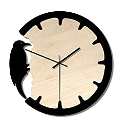 Modern Silent Wall Clock Non Ticking Fashion Silent Wall Clock Fashion Creative Acrylic Wall Clock Exquisite Woodpecker Wall Clock for Living Room Decor Wall Clock