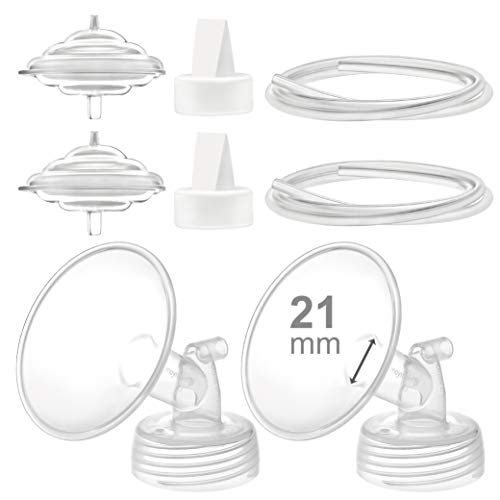 Maymom Pump Parts Compatible with Spectra S2 Spectra S1 Spectra 9 Plus Breastpump, Flange (21mm) Valve Tubing Backflow Protector, Not Original Spectra Pump Parts Not Original Spectra S2 Accessories