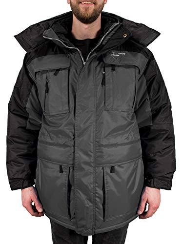 Freeze Defense Mens Big and Tall 3in1 Winter Jacket Coat & Vest (3XL / 3X Gray)