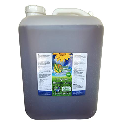 Humic Harvest Water-Extracted Humic Acid X75- 5 Gallons (640 oz)