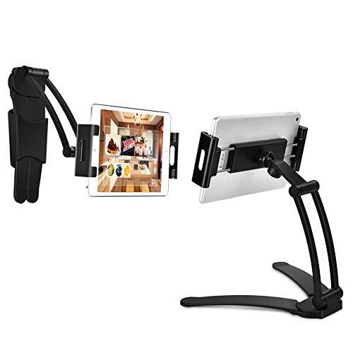 aceyoon 2 in 1 Küche Tablet Ständer Wandhalterung Tischständer 5.9-9.7 Zoll Tablet Wand Halter Verstellbar Stativ Halter Universal Kompatibel für Tablet & Pad Air Mini Pro