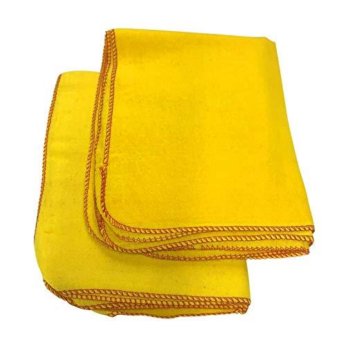 BITALY - Paños de limpieza amarillos de microfibra, muy absorbentes, suaves, para limpiar el polvo, la ventana de la cocina, el coche y la ventana del coche, toalla 100 % algodón, paquete de 6