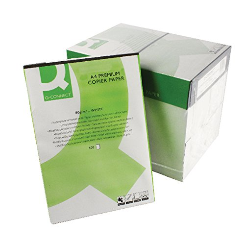 Q Connect Premium Multifunctional A4 80 GSM Laser Paper - 5 x Reams of 500 Sheets Per Box