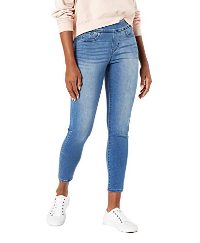 Signature by Levi Strauss & Co. Gold Label Women's Mid-Rise Pull On Skinny Crop Jeans, Paradise Bay, 2