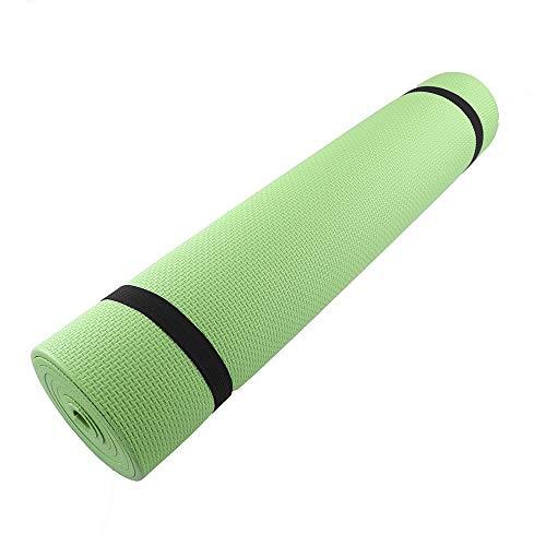 KJBGS Accesorios de Fitness Mat de Yoga 6 mm Espesor cómoda Espuma Adecuada para Deportes de Yoga Conveniente y Duradero (Color : Green)