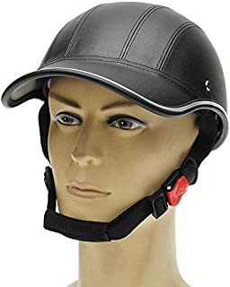 ELECTROPRIME Cap Helmet Artificial Leather Motorcycle Open Face Half Roller 55-62cm 7cm New