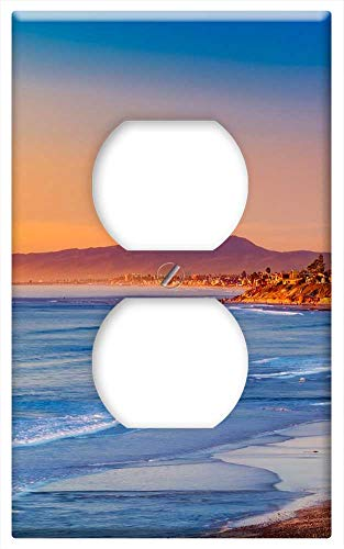 Switch Plate Outlet Cover - California Sunset Evening Sky Clouds Sea Ocean