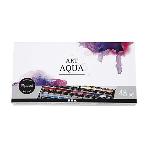 Acuarelas Art Aqua, surtido de colores, 48color