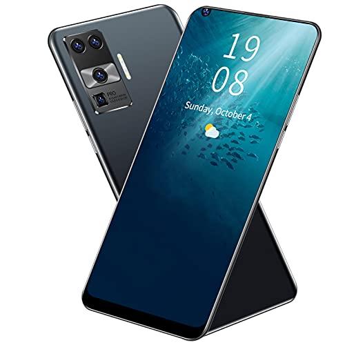 Smartphones Desbloqueados X66 PRO +, Teléfonos Móviles con Android 8.1 Desbloqueados, Pantalla Completa de Gota de Agua de 6,72 ', 2 MP + 5 MP, 2 + 16 GB, SIM Dual, Bandas Globales 2300mah(negro)