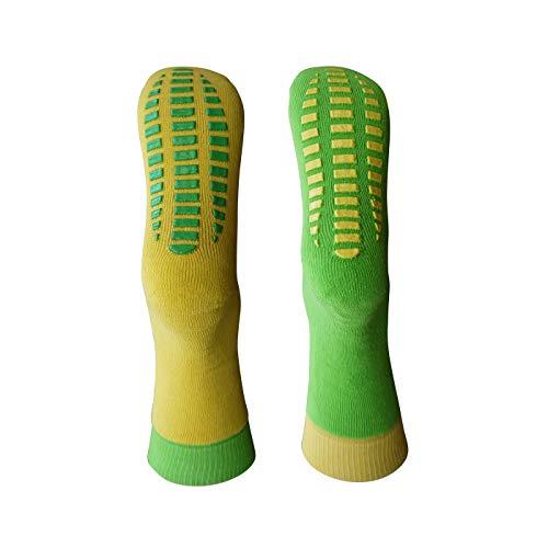 Cotton Club 2 Paar ABS Socken 27-30 grün-gelb