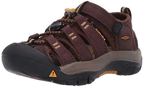 KEEN Newport H2 Closed Toe Water Shoe Sandal, Coffee Bean/Bison, 7 US Unisex Big Kid