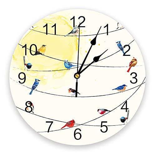 Tbqevc Precioso Reloj de Sala de Estar Reloj de Pared decoración del hogar Dormitorio decoración de la Cocina Reloj de Pared 12 Pulgadas