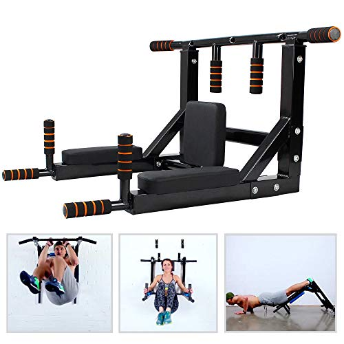 Leogreen Barra de Flexiones de Pared, Unisex-Adult, Negro, 95.4 x 47.3 x 73.3 cm