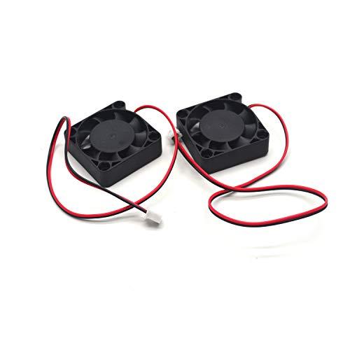 Karcy DC 12 V Ventilador refrigerador sin escobillas disipador de Calor Radiador para DIY Impresora 3D Pack de 2