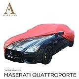 AUTOABDECKUNG ROT KOMPATIBEL MIT Maserati QUATTROPORTE INNEN SCHUTZHÜLLE ABDECKPLANE SCHUTZDECKE VOLLGARAGE Cover