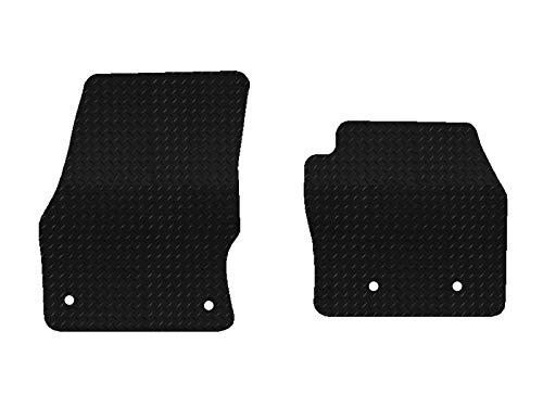 Juego de 2 alfombrillas de goma para Ford Transit Connect (16-18), color negro