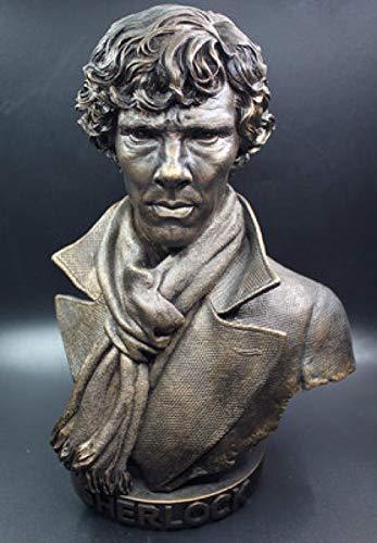 LPQA Estatuas Figuritas Decoración Tamaño Grande 32 Cm Benedict Cumberbatch Watson Sherlock Holmes Figura De Resina Estatua Juguetes Colección Modelo Decoración De Escritorio Regalo-Brown_