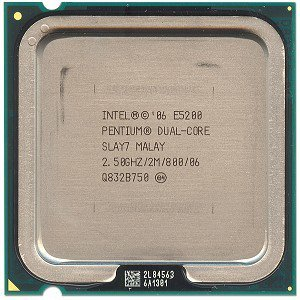 Intel Pentium Dual-Core E5200 Tray CPU Pentium Dual-Core 2500 MHz Sock, 775 FC-LGA 800FSB 2048KB L2