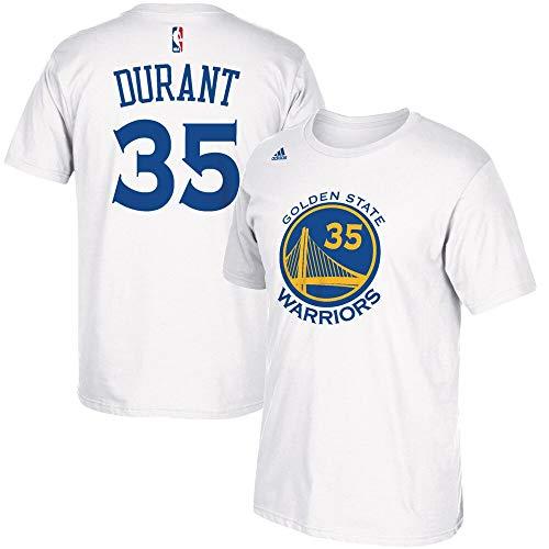 adidas Outerstuff - Maglietta da Ragazzo Kevin Durant Golden State Warriors #35 NBA con Nome e Numero, Bambino, Bianco, Youth S
