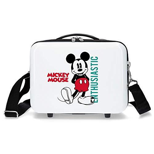 Disney Mickey Enthusiastic Trousse de toilette adaptable Blanc 29x21x15 cms ABS