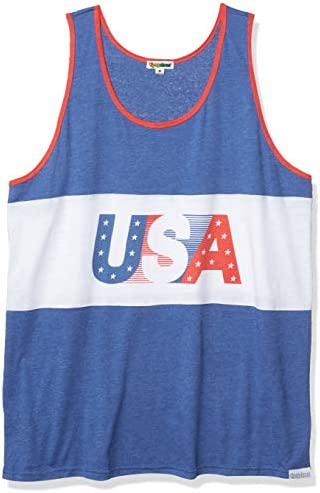Tipsy Elves Men s USA Tank Top American Flag Tank Top Medium Blue product image