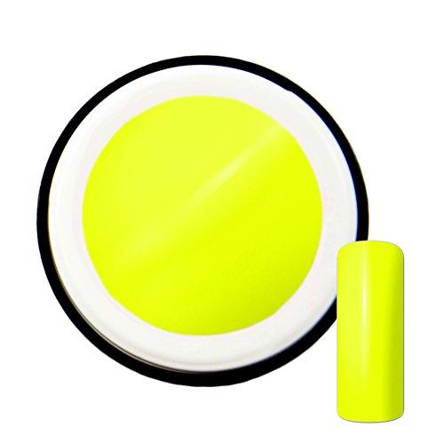 Gel UV de couleur jaune fluo #4 - 5 ml - Fabriqué en Allemagne