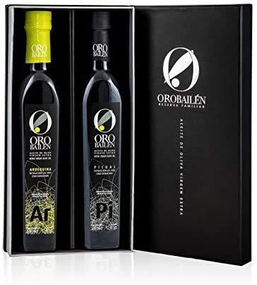 Huile d'olive vierge extra - Oro bailen Reserva Familiar - Coffret cadeau gourmet huile d'olive vierge extra de Jaen Arbequina + variétés Picual