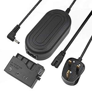 ACK-E8 Adaptador de corriente alterna Kit de fuente de repuesto para cámaras Canon EOS Rebel T5i T4i T3i T2i Kiss X6 Kiss X5 Kiss X4 700D 650D 600D 550D