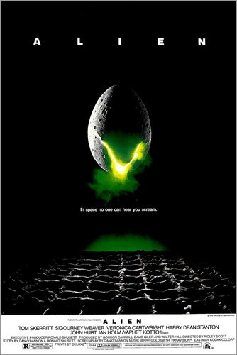 Póster 60 x 90 cm: Alien de Everett Collection - impresión artística, Nuevo póster artístico