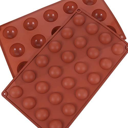 HSJ LF- Molde de Cupcake de Molde de Silicona 3 unids Molde Redondo Molde de la Esfera Media para el Chocolate, la Torta, la Jalea, la fabricación de Mousse de la cúpula Forma de Pastel