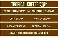 南国珈琲 トロピカルコーヒー ステッカー シール NTP-S7