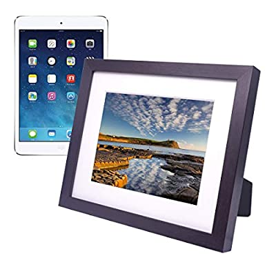 iPad Picture Frame,iPad Holder,Turn the iPad into a WIFI Cloud Digital Photo Frame,Perfect Visual and Interactive Experience,Wall&Tabletop Picture Frame for Home or Office,Fits for 9.7 in iPad (Brown)