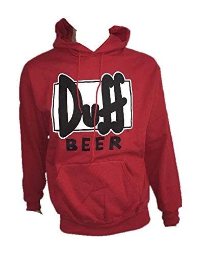 Felpa Adulto Duff Beer The Simpson-XL-Rosso