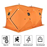 PEXMOR Ice Fishing Shelter, Pop-up Hub-Style for 8 Person, w/Portable Carrying Bag, Detachable...